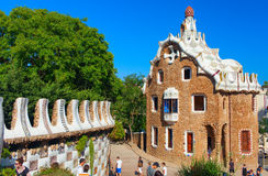 Parque Guell Barcelona, Spain Foto de Stock Royalty Free