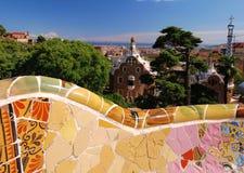 Parque Guell, Barcelona, Spain Imagem de Stock Royalty Free