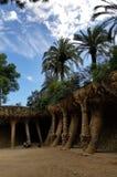Parque Guell Barcelona - vistas impressionantes! foto de stock