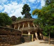 Parque Guell de Antoni Gaudi en Barcelona Foto de archivo libre de regalías