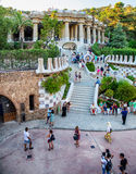 Parque Guell de Barcelona foto de archivo