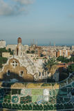 Parque Guell de Barcelona Imagens de Stock Royalty Free