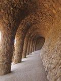 Parque Guell de la cueva Imagen de archivo