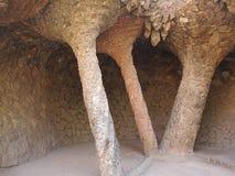 Parque Guell de la cueva Imagen de archivo libre de regalías
