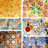 Parque Guell. Detalhes arquitectónicos Foto de Stock