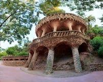 Parque Guell em Barcelona, Catalonia, Espanha Fotos de Stock