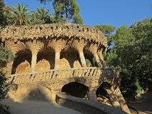 Parque Guell em Barcelona, Spain Fotos de Stock Royalty Free