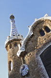 Parque Guell en Barcelona Imagen de archivo