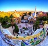 Parque Guell en Barcelona fotos de archivo libres de regalías