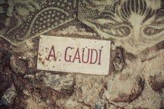 Parque Guell en Barcelona. Cataluña, España fotografía de archivo libre de regalías