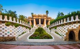 Parque Guell en Barcelona, España imagen de archivo