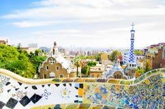 Parque Guell en Barcelona, España Fotografía de archivo