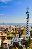 Parque Guell en Barcelona, España imagenes de archivo