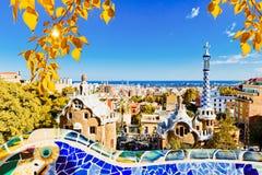 Parque Guell en Barcelona, España Imagen de archivo libre de regalías
