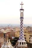 Parque Guell en Barcelona (España) Imagen de archivo