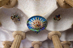 Parque Guell en Barcelona, España. Fotografía de archivo libre de regalías