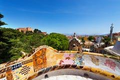 Parque Guell - Espanha de Barcelona Fotografia de Stock
