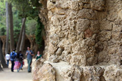 Parque Guell, Parc Guell, Barcelona, Spanje Stock Afbeeldingen