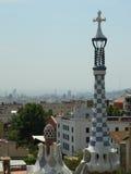 Parque Guell pelo arquiteto Antoni Gaudi Foto de Stock Royalty Free