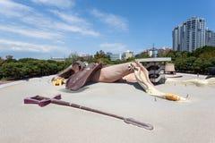 Parque Gulliver boisko w Walencja, Hiszpania Obraz Stock