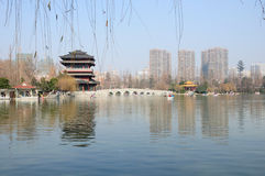 Parque Hefei China de Xiaoyaojin fotografia de stock royalty free