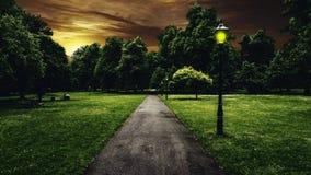 Parque hermoso en la ciudad de Southampton Fotografía de archivo