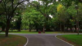 Parque hermoso para el ejercicio almacen de metraje de vídeo