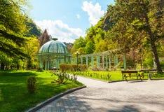 Parque histórico central de Borjomi georgia Foto de archivo libre de regalías