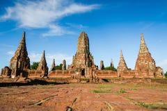 Parque histórico de Ayutthaya da paisagem em Ayutthaya Imagens de Stock Royalty Free