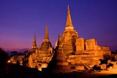 Parque histórico de Ayutthaya en Tailandia Fotos de archivo