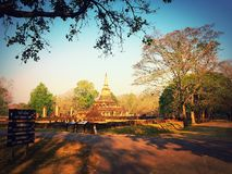 Parque histórico de Sisatchanalai Imagens de Stock