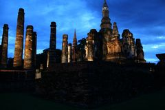Parque histórico de Sukhothai Imágenes de archivo libres de regalías