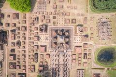 Parque histórico de Sukhothai en Sukhothai, Tailandia Silueta del hombre de negocios Cowering Fotos de archivo libres de regalías