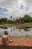 Parque histórico do sukhothai do mahathat de Wat Fotos de Stock Royalty Free