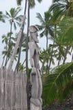 Parque histórico nacional de Puuhonua o Honaunau, ilha grande, Havaí imagem de stock royalty free