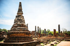 Parque histórico, Phra Nakhon Si Ayutthaya, Tailandia Imagenes de archivo