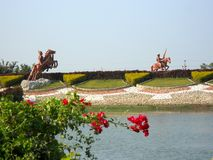 Parque indiano bonito da água Foto de Stock Royalty Free