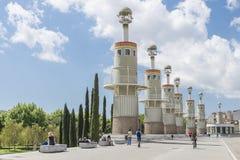 Parque industrial de España, Barcelona fotos de archivo