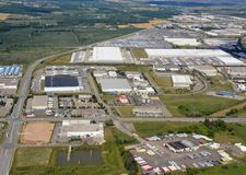 Parque industrial de Milton Ontario fotos de archivo libres de regalías