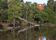 Parque inundado fotografía de archivo