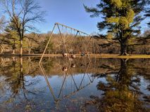 Parque inundado en invierno fotos de archivo libres de regalías