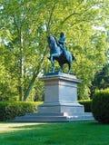 Parque Italia de la ciudad de Bolonia de la estatua de Vittorio Emanuele II Fotografía de archivo libre de regalías