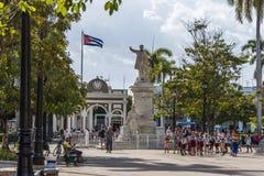 Parque José MartÃ在西恩富戈斯,古巴 库存照片