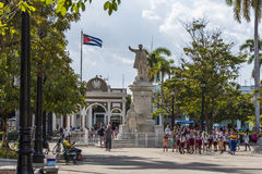 Parque José Martà i Cienfuegos, Kuba Arkivfoton