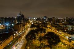 Parque Kennedy por noche imagenes de archivo
