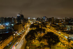 Parque Kennedy vid natt Arkivbilder