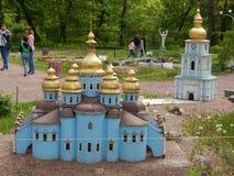 PARQUE KIEV EN MINIATURA, KIEV, UCRANIA imagen de archivo