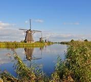 Parque Kinderdijk del molino de viento Imagen de archivo libre de regalías
