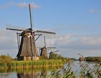 Parque Kinderdijk do moinho de vento Imagem de Stock