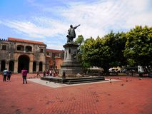 Parque kolon i Santo Domingo Royaltyfri Bild